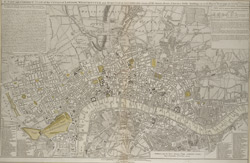 A new and correct plan of the cities of London, Westminster and borough of Southwark wherein all the streets, roads, churches, public buildings &c. to the present year 1791 are exactly delineated